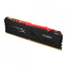MEMORIA DDR4 16GB 2400MHz PC4-19200 HYPERX FURY RGB NEGRA P/N HX424C15FB3A/16
