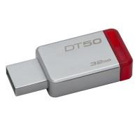 pendrive Kingston 32gb Metal/Red datatraveler 50 usb 3.0 p/n DT5032GBCE