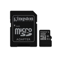 memoria Kingston microSDHC UHS-I Memory Card 16 GB clase 10 Negro p/n SDCS16GBCE