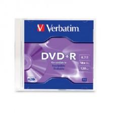 DVD VERBATIM 4,7GB SLIM 16X GRABABLE DVD +R