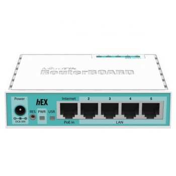 Router MikroTik RouterBOARD hEX conmutador de 4 puertos - GigE p/n RB750GR3