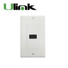 PLACA FRONTAL HDMI CON CONECTOR DORADO P/N UL-WLHDMI