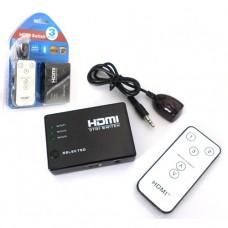 SWITCH HDMI 1 A 5 CON CONTROL REMOTO ( No incluye cargador )