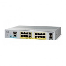 SWITCH Cisco Catalyst 2960L SERIES   16 x 10/100/1000 + 2 x Gigabit SFP (enlace ascendente)  sobremesa, montaje en rack - PoE+ (120 W) P/N WS-C2960L-16PS-LL