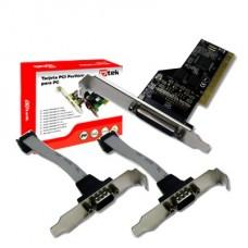 TARJETA PCIeX PARALELA DB25 MAS 2 SERIALES DB9 CON BRACKET LOW PROFILE