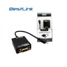 CONVERSOR MICROHDMI A VGA Y AUDIO PORTABLE P/N BL-CVM400