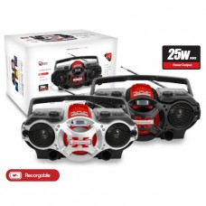 RADIO MULTIMEDIA USB/SD BOOMXTREME RECARGABLE NEGRO