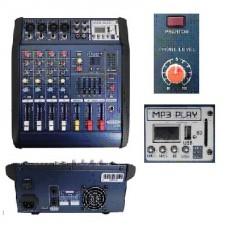 MINI MIXER 4 CANALES MODELO 180W USB P/N MX 402D