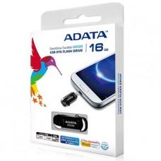 PENDRIVE OTG DASH DRIVE ADATA 16GB NEGRO USB 2.0 P/N AUD320-16GB-CBK