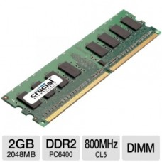 MEMORIA DDR2 CRUCIAL 2GB 800 PC6400 BOX P/N CT25664AA800