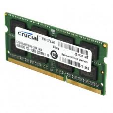 MEMORIA SODIMM DDR3 4GB 1600 PC12800 CRUCIAL 1.35V P/N CT51264BF160B