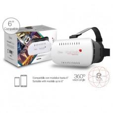 LENTES DE REALIDAD VIRTUAL VR 3D BLANCOS