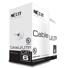 CAJA DE CABLE DE RED UTP CATEGORIA 6 305M UNIFILAR 100% COBRE 23AWG P/N PCGUCC6CMGR