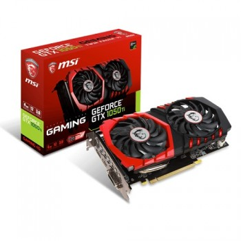 TARJETA DE VIDEO GEFORCE MSI GTX1050 TI GAMING X 4G DDR5 PCIeX 3.0