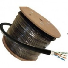 CABLE DE RED CAT5E, 100% COBRE, 24 AWG, CCA, 4x2x0,45MM, CAJA 305 MTS EXTERIOR BLINDADO