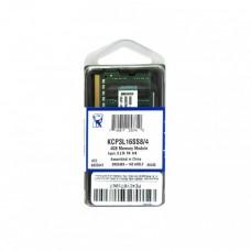 MEMORIA SODIMM DDR3L 4GB 1600 PC12800 1.35V P/N KCP3L16SS8/4