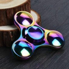UNIDAD FIDGET SPINNER METALICO RELIEVE HS-09 ( ARCOIRIS )