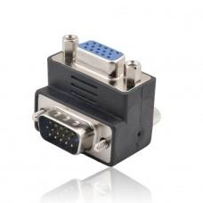 CONECTOR VGA MACHO/HEMBRA 90°