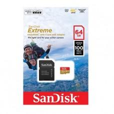 MEMORIA MICROSD 64GB SANDISK UHS-3 EXTREME 667X CLASE 10 P/N SDSQXAF-064G