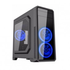GABINETE GAMEMAX G561 BLACK 3 FAN AZUL SIN FUENTE ATX