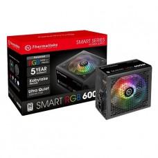 FUENTE DE PODER THERMALTAKE 600W 80 PLUS RGB P/N PS-SPR-0600NHFAWU-1