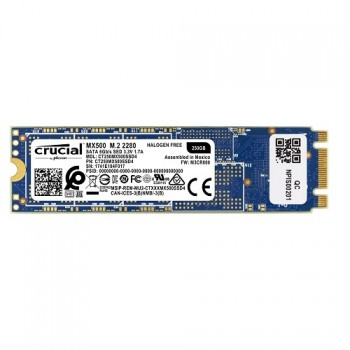 DISCO CRUCIAL DE ESTADO SOLIDO SSD M.2 MX500 250GB 2280 BOX P/N CT250MX500SSD4