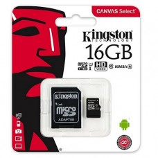 MEMORIA MICROSD 16GB KINGSTON CLASE 10 UHS-I P/N SDCS/16GB