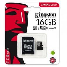 MEMORIA MICROSD 16GB KINGSTON CLASE 10 UHS-I P/N SDCS/16GB