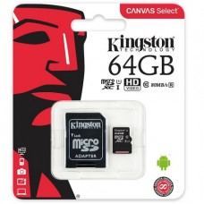 MEMORIA MICROSD 64GB KINGSTON CLASE 10 UHS-I