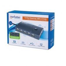 HUB USB 13 PUERTOS USB 2.0 ENERGIZADO 13 PUERTOS P/N 162463