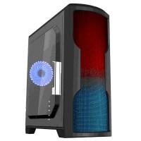 GABINETE GAMEMAX MATRIX G562 NEGRO RGB 1 FAN AZUL SIN FUENTE ATX