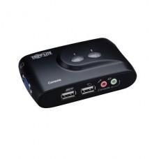 KVM TRIPPLITTE TRP 2 PUERTOS USB CON AUDIO Y CABLES P/N B004-VUA2-K-R