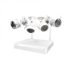 KIT DE CCTV EZVIZ INALAMBRICO 4 CAMARAS + NVR  DE 8 CANALES + DISCO DE 1TB
