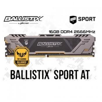 MEMORIA DDR4 CRUCIAL BALLISTIX SPORT AT TUF GAMING 16GB 2666MHZ P/N BLS16G4D26BFST