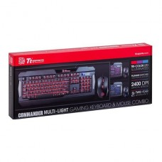KIT DE TECLADO Y MOUSE GAMER THERMALTAKE COMMANDER TRICOLOR P/N KB-CCM-PLBLSP-01