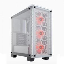 GABINETE CORSAIR Crystal RGB Tempered Glass White ATX P/N CC-9011129-WW