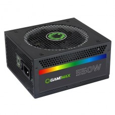 FUENTE DE PODER GAMEMAX 550W RGB MODULAR 80 PLUS P/N RGB-550