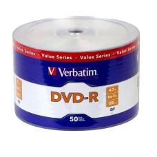 PACK 50 UNIDADES DVD VERBATIM 4,7 8X LOGO