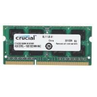 MEMORIA SODIMM DDR3 4GB 1600 PC12800 CRUCIAL 1.35V 1.5V CERTIFICADAS PARA MAC P/N CT4G3S160BM