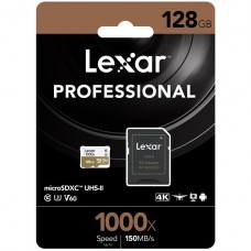 MEMORIA LEXAR MICROSD 128GB SDHC UHS-II 1000X P/N LSDMI128CB1000A