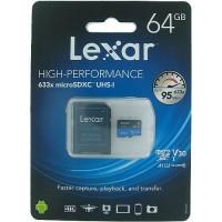MEMORIA LEXAR MICROSD 64GB SDHC/SDXC 633X UHS-1 P/N LSDMI64GBBAP633A