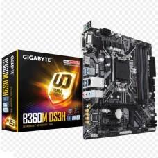 PLACA MADRE GIGABYTE B360M DS3H s1151 P/N GA-B360M-DS3H