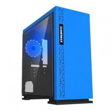 GABINETE GAMEMAX EXPEDITION BLUE FAN 12MM AZUL SIN FUENTE ATX
