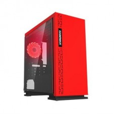 GABINETE GAMEMAX EXPEDITION RED FAN 12MM ROJO SIN FUENTE ATX