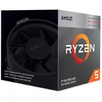PROCESADOR AMD RYZEN 5 3400 3.7GHZ /4.2GHZ 4 CORE 11 THREAD VIDEO VEGA 11 sAM4 P/N YD3400C5FHBOX