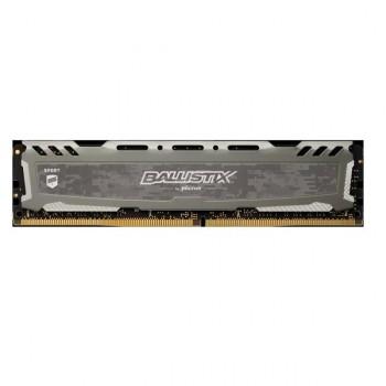 MEMORIA UDIMM DDR4 CRUCIAL BALLISTIX SPORT GRIS 8GB 3000MHZ P/N BLS8G4D30AESBK
