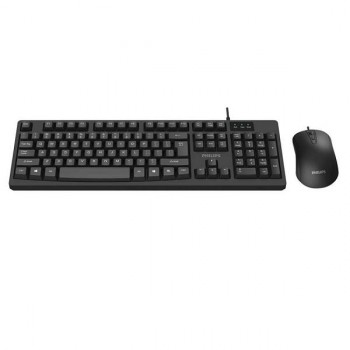KIT TECLADO Y MOUSE PHILIPS USB SERIE 200 P/N SPT6214