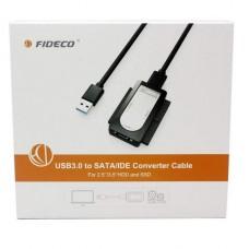 ADAPTADOR USB IDE Y SATA CINCO EN UNO FIDECO ALTA CALIDAD USB 3.0