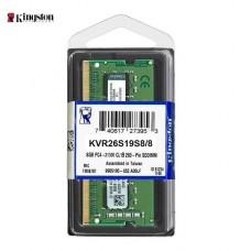 MEMORIA SODIMM DDR4 8GB 2666 KINGSTON P/N KVR26S19S8/8