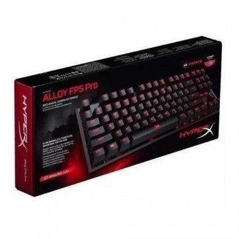 TECLADO GAMER KINGSTON HYPERX ALLOY FPS RED INGLES P/N HX-KB4RD1-USR2